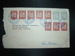 LETTRE Par Avion Pour FRANCE TP CAFE 9c X2 + TP CACAO 2c Bande De 5 + Bande De 3 OBL.NOV 27 1962 - Dominicaine (République)