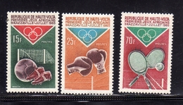 ALTO VOLTA HAUTE VOLTA UPPER VOLTA BURKINA FASO 1965 AFRICAN GAMES JEUX AFRICAINE BRAZZAVILLE FULL SET SERIE MNH - Alto Volta (1958-1984)