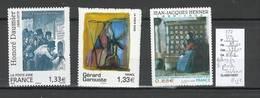France - Yvert 222 - 223 - 224 - ADHESIFS-  DEPART A 25 % DE LA COTE- Tableaux De 2008 - Rare - France