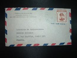 LETTRE Par Avion Pour FRANCE TP GENERAL HECTOR B. TRUJILLO MOLINA 33c OBL.MEC.NOV 5 1956 + OBL.MEC. BD SEUL CIUDAL - Dominicaine (République)