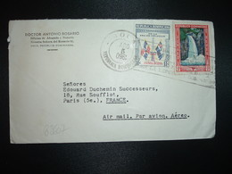 LETTRE Par Avion Pour FRANCE TP JARABACOA 23c + PATRIA NUEVA 11c OBL.MEC.AGO 5 1960 (à L'envers) MOCA + DOCTOR A ROSARIO - Dominicaine (République)