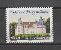"""FRANCE / 2012 / Y&T N° AA 728 : """"Demeures Historiques"""" (Château De Puyguilhem) - Choisi - Cachet Rond - Frankreich"""