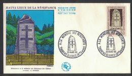 YN344     FRANCE FDC 1963 *  HAUTS LIEUX DE LA RESISTANCE / A LA MEMOIRE DES RESISTANTS - THORENS GLIERES - 1960-1969