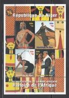 NIGER 1998 - FESTIVAL DE LA MODA EN AFRICA - BLOCK - Textile