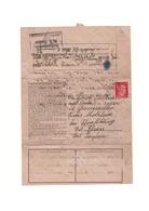 KZ KL Dachau - Brief Eines Insassen Von 1943 Ins Elsass - Judaika / Judaica - Storia Postale