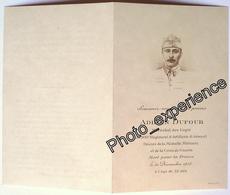 Faire Part Décès Photo Guerre Militaire Tankiste Régiment Char Deathcard 1918 - Décès