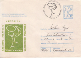 77844- BACAU ECOLOGY PHILATELIC EXHIBITION, ENVIRONEMNET PROTECTION, COVER STATIONERY, 1991, ROMANIA - Protection De L'environnement & Climat