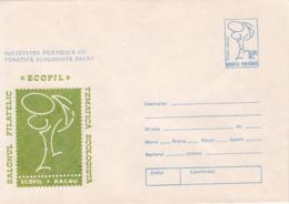 77845- BACAU ECOLOGY PHILATELIC EXHIBITION, ENVIRONEMNET PROTECTION, COVER STATIONERY, 1991, ROMANIA - Protection De L'environnement & Climat