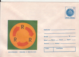 77846- RECYCLING, ENVIRONEMNET PROTECTION, COVER STATIONERY, 1988, ROMANIA - Protection De L'environnement & Climat
