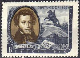 USSR 1956 1 V MNH Alexander Pushkin, The Great Russian Poet - Writers