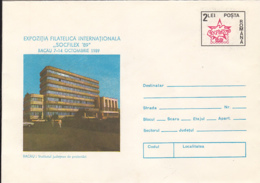 77895- BACAU COUNTY RESEARCH INSTITUTE, CAR, INDUSTRY, COVER STATIONERY, 1989, ROMANIA - Usines & Industries