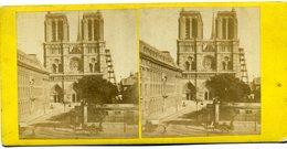Photos Stéréoscopiques - Paris -  Notre  Dame De Paris  En  Travaux ( échafaudages ) ( A 124 ) - Fotos Estereoscópicas