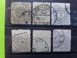 BRASIL / BRAZIL / BRESIL 1884 , 6 Timbres Yvert 59, 60 (2 Nuances Dont BLEU GRIS) 62,63,66,obl  BTB Cote 110  Euros - Brésil