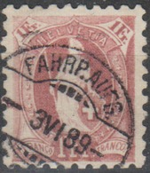 Schweiz, 3.4.1889, Fahrp.Aufg., 71B, Stehende Helvetia, Gute Zähnung, Siehe Scan! - 1882-1906 Coat Of Arms, Standing Helvetia & UPU