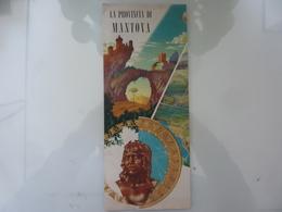 """Pieghevole """"LA PROVINCIA DI MANTOVA"""" E.N.I.T. 1963 - Dépliants Touristiques"""