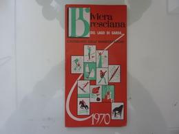 """Libretto """"RIVIERA BRESCIANA DEL LAGO DI GARDA Calendario Delle  Manifestazioni 1970"""" - Dépliants Touristiques"""