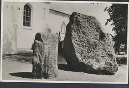 61-664 Danmark Denmark Dänemark Exhibition Art Treasures Jelling Runic Stone Sent To Germany 1971 - Danemark