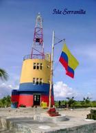 AK Kolumbien Leuchturm Colombia Serranilla Island Lighthouse New Postcard - Vuurtorens