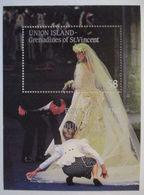 Union Island Grenadines Of St. Vincent, Block Royal Wedding Postfrisch  - St.Vincent (1979-...)