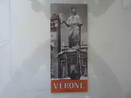 """Pieghevole """"VERONE Ente Provinciale Per Il Turismo, Verona"""" 1965 - Dépliants Touristiques"""