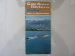 """Pieghevole """"GARDONE RIVIERA SALO' Lago Di Garda, Italia""""  Azienda Autonoma Di Soggiorno 1970 - Dépliants Touristiques"""