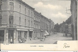 Aywaille - Centre - Commerce: Chapeau - N. Frère - Circulée: 1904  - 2scans - Aywaille