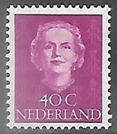 Netherlands  1949  Sc#315  40c Juliana  MLH   2016 Scott Value $27.50 - Unused Stamps