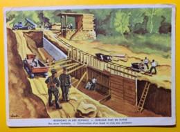 8124 - Militaire Nos Soldats à L'oeuvre Construction D'un Fossé Et D'un Mur Antichars - Suisse