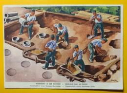 8126 - Militaire Nos Soldats à L'oeuvre Construction D'une Barricade Route - Suisse