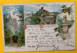 8132 - Gruss Vom Drachenfels Zahnraubahn Cöln 14.10.1899 Litho - Drachenfels