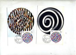 2 Carte Maximum 1980 Perouges Agam - 1980-89