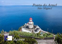 AK Azoren Leuchturm Azores Sao Miguel Island Ponta Do Arnel Lighthouse New Postcard - Vuurtorens