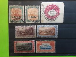 SOUDAN / SUDAN ,GB Condominium 7 Timbres Airmail Yv 34, Stationnery 5 M ,Service 9A, 63, TELEGRAPHE 10,11,12, Obl TB - Sudan (...-1951)