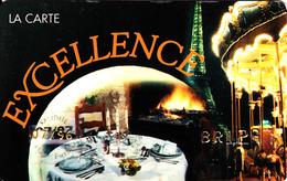 Carte Club Excellence Paris Sorties Et Soirées Couples  1996-1997 - France