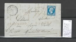 France - Lettre Avec Cachet De Saint Denis Sur Sarthon - Orne - 1862 - PC 3040 + Type 22 Perlé - Marcophilie (Lettres)