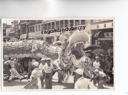 PHOTO Format CPA - CHINE (HONG-KONG) -  FETES DU DRAGON 1940 1950 Environ Ecriture En CHINOIS Au Verso - RARE - - Chine (Hong Kong)