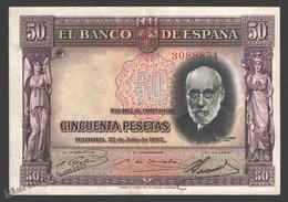 Banknote Spain -  50 Pesetas – July 1935 – Doctor Santiago Ramon Y Cajal - Condition VF - Pick 88 - [ 2] 1931-1936 : Repubblica