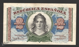 Banknote Spain -  2 Pesetas – Year 1938 – Women At Center, Toledo Bridge - Condition VF - Pick 95 - 1-2 Pesetas