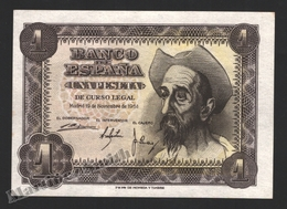 Banknote Spain -  1 Peseta – November 1951 – Don Quijote – Serie I – Condition UNC - Pick 139a - 5 Pesetas