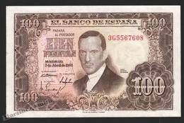 Banknote Spain -  100 Pesetas – April 1953 – Julio Romero De Torres - Condition VF – Pick 145a - [ 3] 1936-1975 : Régimen De Franco