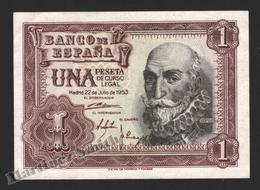 Banknote Spain -  1 Peseta – July 1953 – Marques De Santa Cruz - Condition VF - Pick 144a - [ 3] 1936-1975 : Regency Of Franco