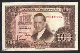 Banknote Spain -  100 Pesetas – April 1953 – Julio Romero De Torres - Condition FF - Pick 145a - 100 Pesetas
