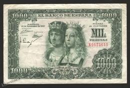 Banknote Spain -  1000 Pesetas – November 1957 – Reyes Católicos - Condition G - Pick 149a - [ 3] 1936-1975: Regime Van Franco