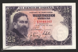 Banknote Spain -  25 Pesetas – July 1954 – Isaac Albeñiz, Music Composer - Condition VF - Pick 147a - [ 3] 1936-1975 : Regime Di Franco