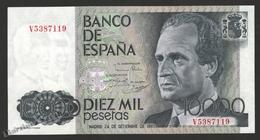 Banknote Spain -  10000 Pesetas – September 1985 – King Juan Carlos I, Prince Felipe - Condition UNC - Pick 161 - [ 4] 1975-… : Juan Carlos I
