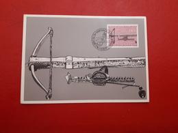 Liechtenstein Fdc Tu Armes Des Suspensions Antiques - Maximumkaarten