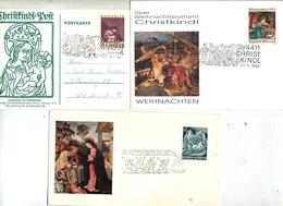 2 Lettre 1 Carte Cachet Christkindeln à Voir - Marcophilie - EMA (Empreintes Machines)