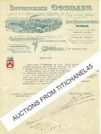 KORTRIJK - Brief Geillustreerd 1925 - IMPRIMERIE GODDAER 9 Rue D'Harlebeke - Litho-chromolithographie - Belgique