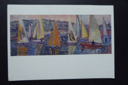 """PAINTING PRINT CARD MINT YACHTS AT DEAUVILLE BY RAOUL DUFY """"THIS HAPPY BREED OF MEN, THIS LITTLE WORLD, THIS PRECIOUS ST - Paintings"""