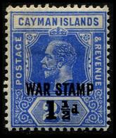 "1917 Cayman Islands ""War Stamp"" - Cayman Islands"